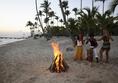 A bonfire at the beach of the Dominican Republic is a long-lasting memory.