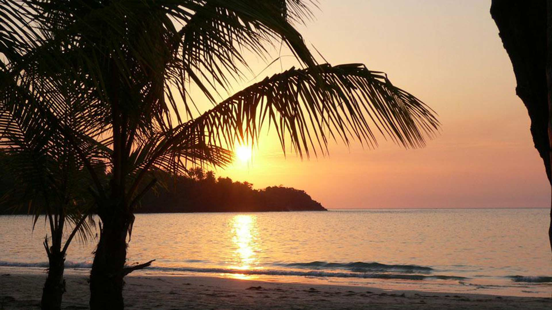 A perfect sunset in the Dominican Republic