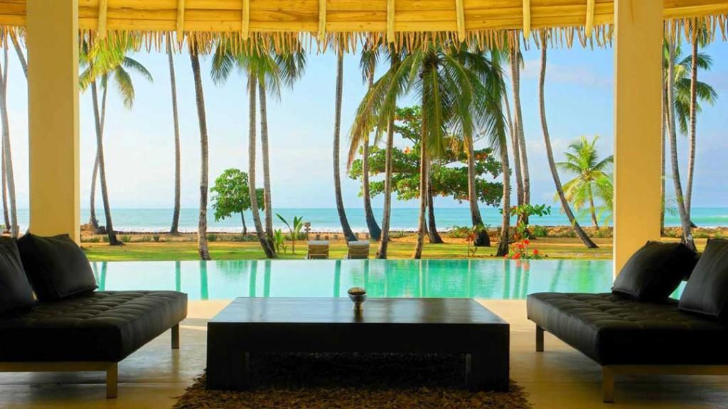 Perfect ocean view from Villa del Mar in Las Terrenas