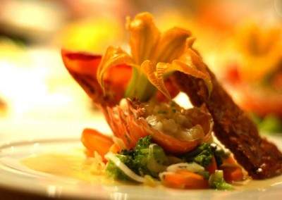 A plated menu by MI CORAZON Catering