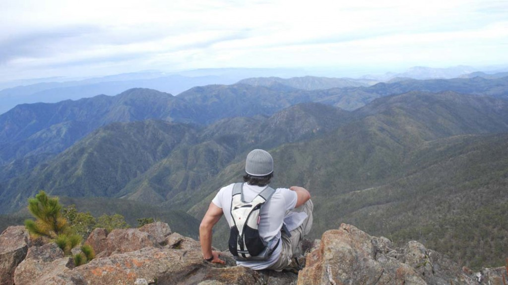 View from the highest peak of the Caribbean, the Pico Duarte