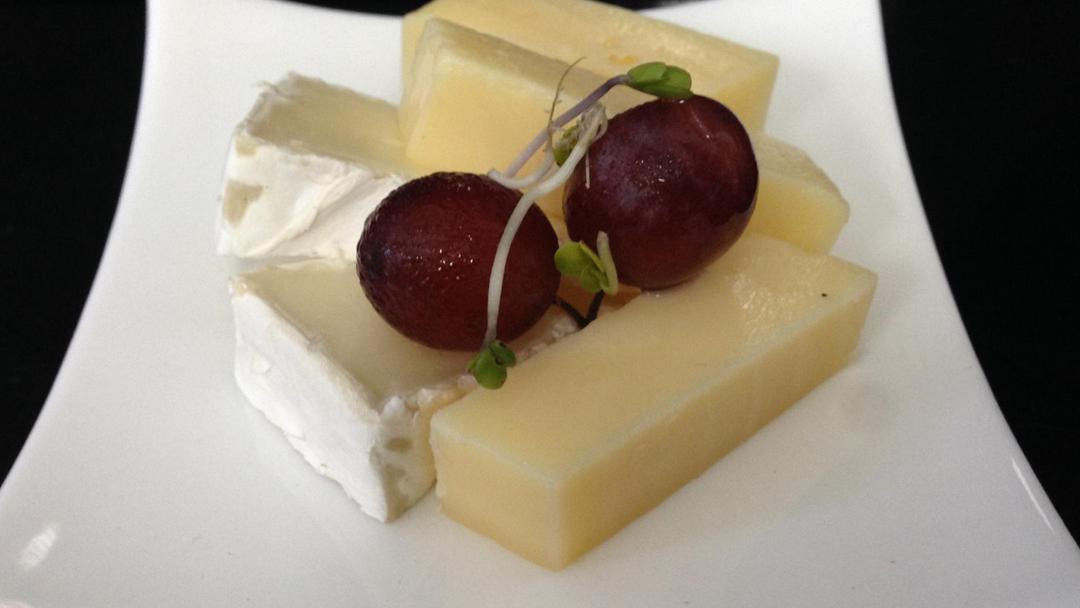 A cheese plate from MI CORAZON catering