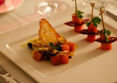 A delicious appetizer from MI CORAZON Catering