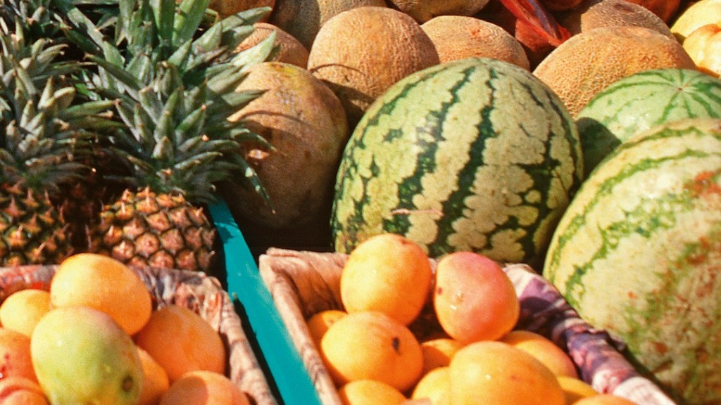 Tropical fruits are available everywhere in the Dominican Republic