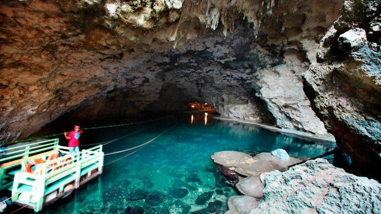 The caves of Los Tres Ojos in the city of Santo Domingo