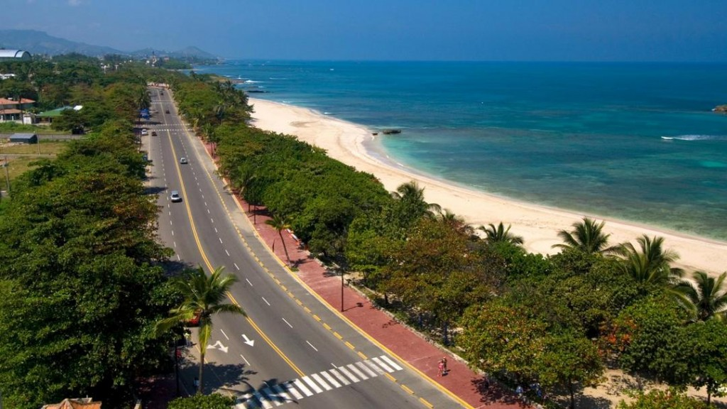 The Malecon and beach of Puerto Plata