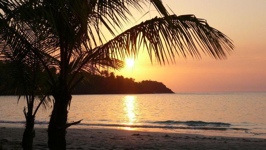 Sunset at Playa Las Ballenas in Las Terrenas