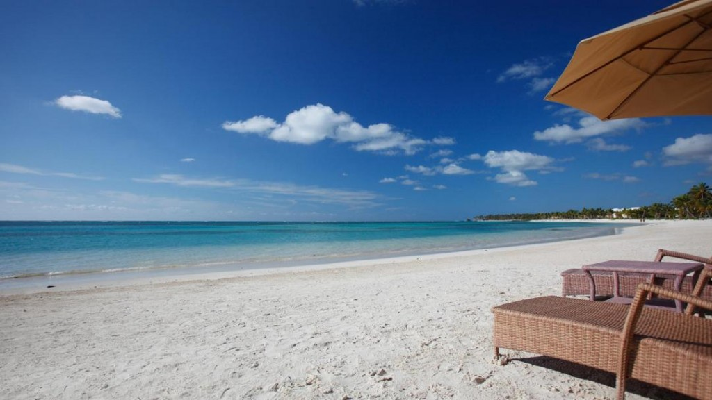 One of the many pristine beaches in the Dominican Republic