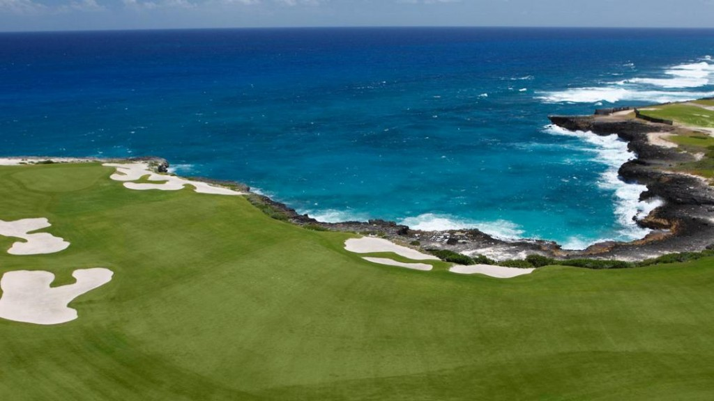 One of the many golf courses in and around Punta Cana