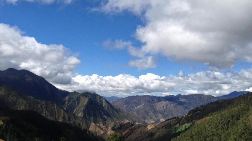 Spectacular view over the Cordillera Central