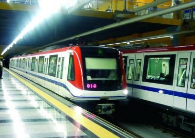 The new and modern metro of Santo Domingo
