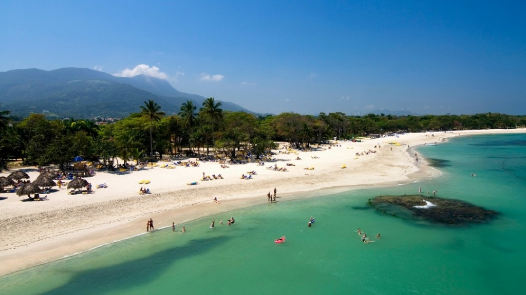 The famous beach of Playa Dorada in Puerto Plata