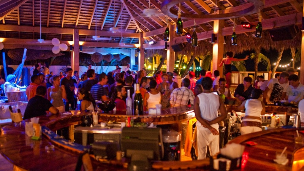 The active nightlife of Cabarete