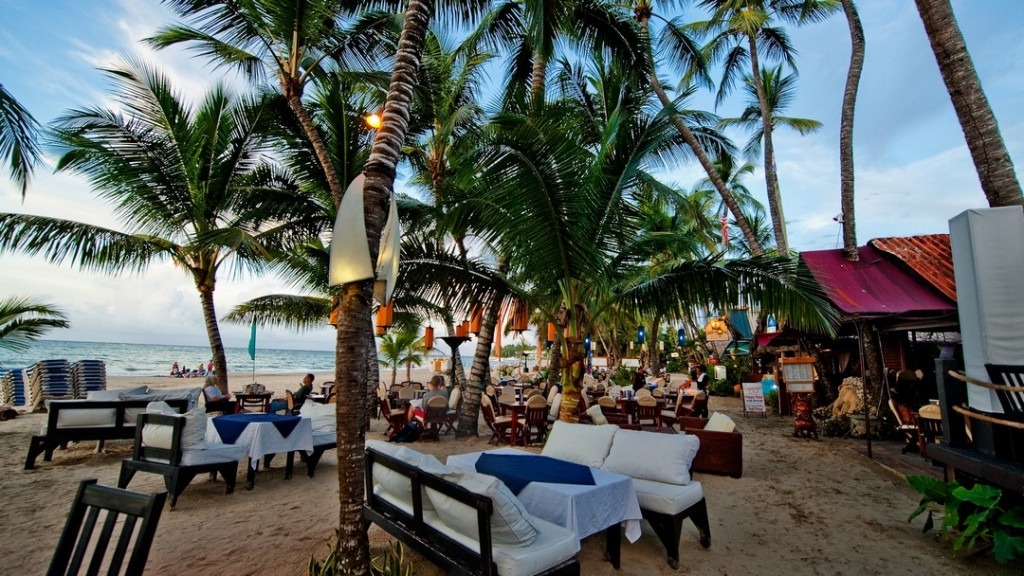 Restaurants and Bars directly at the beach of Cabarete
