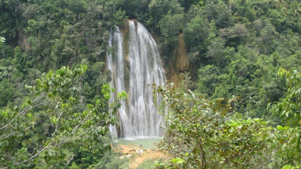 The waterfall Salto El Limón at the Samaná peninsula