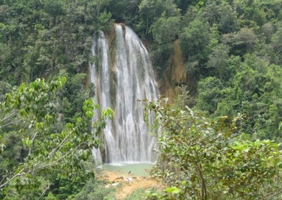 The waterfall Salto El Limón at the Samaná peninsula
