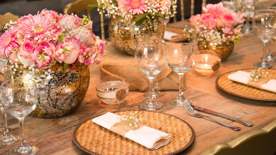 Our event material and table decoration
