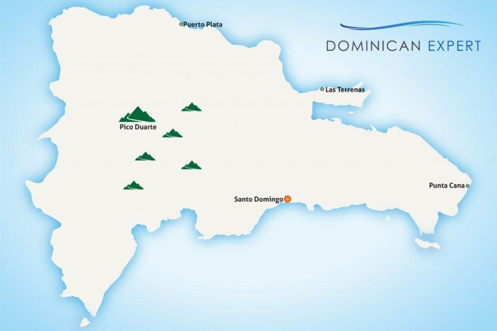 "Map of our tour ""Mountain hike to Pico Duarte"""