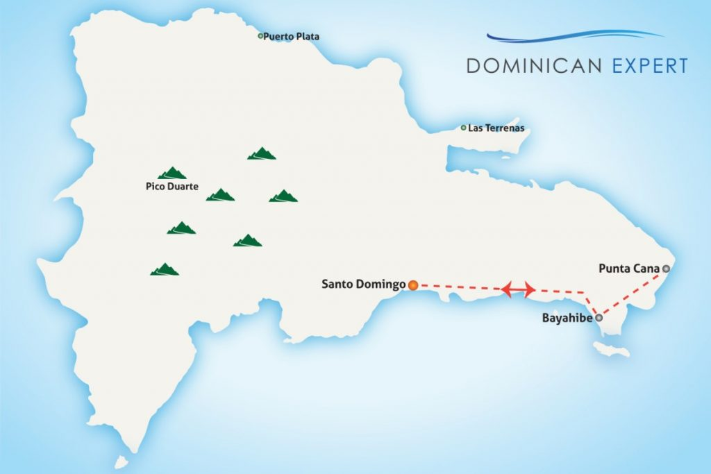 "Map of our tour ""Romantic Beaches"""