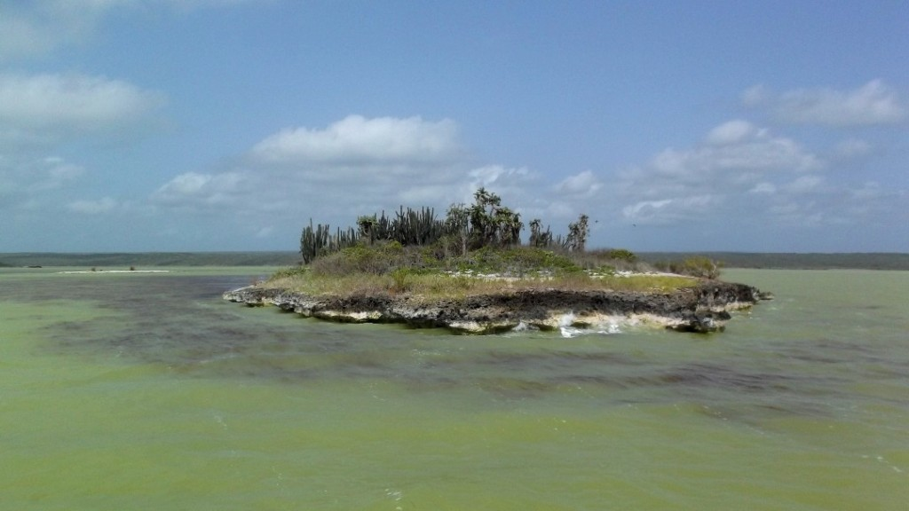 Laguna Oviedo on the south-west coast of the Dominican Republic