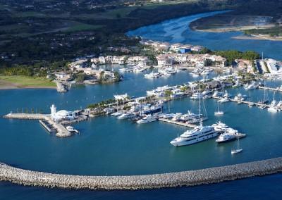 Marina with boat charter