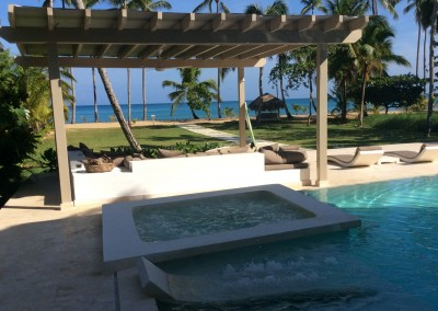 Pool at the Villa Ocean Lodge in Las Terrenas