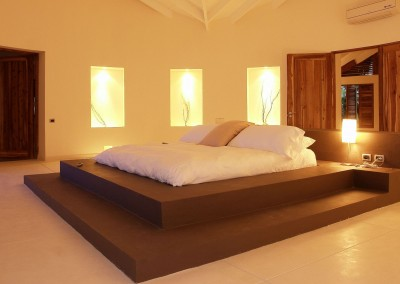 Spacious bedroom in the Villa del Mar