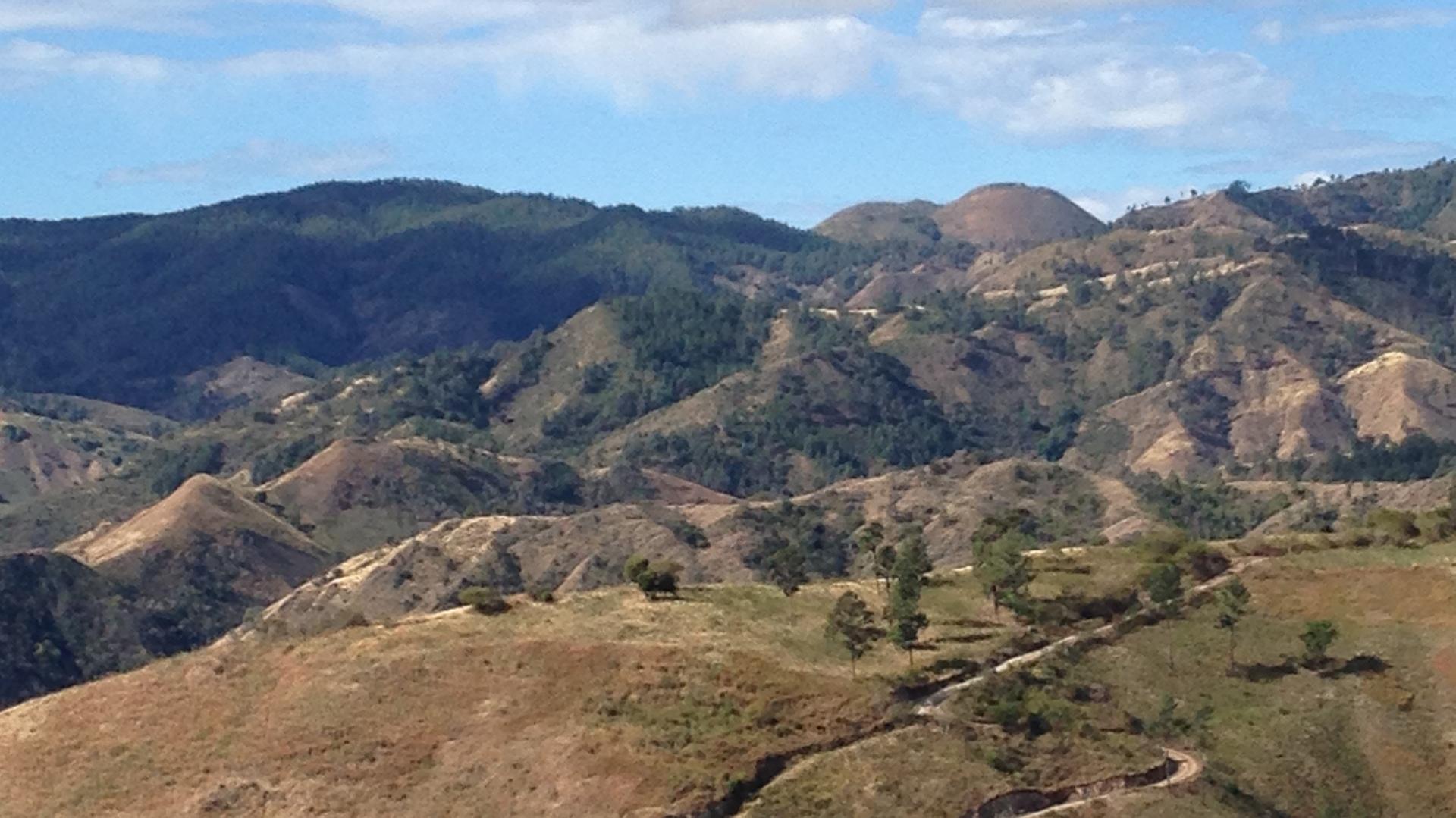 View of the Cordillera Central