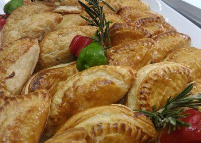 Beef tenderloin puff pastery bits