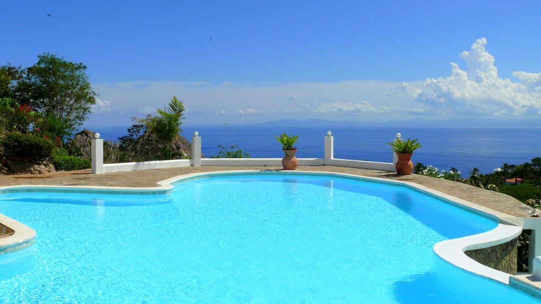 Infinity Pool at Samana Ocean View Eco Lodge