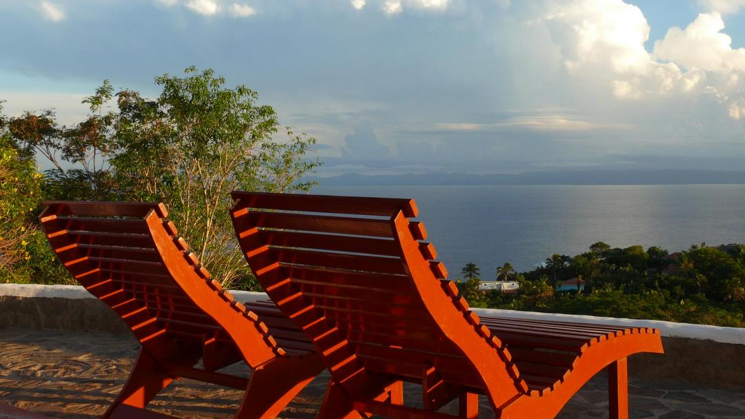 View from the terrace of Samaná Ocean View Eco Lodge