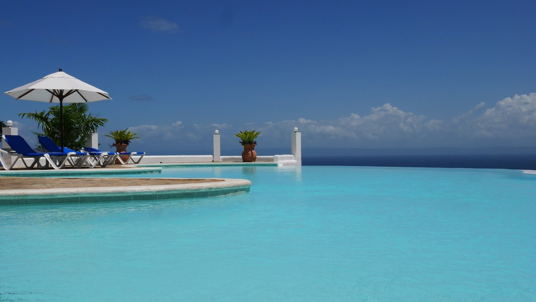 Infinity Pool with ocean view at Samaná Ocean View Eco Lodge