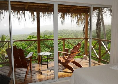 Balcony with ocean view, Samana Ocean View Eco Lodge