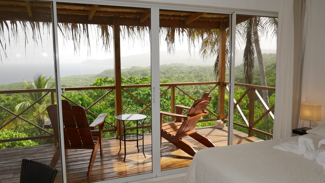 Balcony with ocean view, Samaná Ocean View Eco Lodge