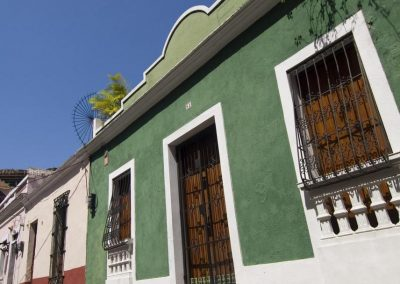 Street of colourful houses, Santo Domingo.