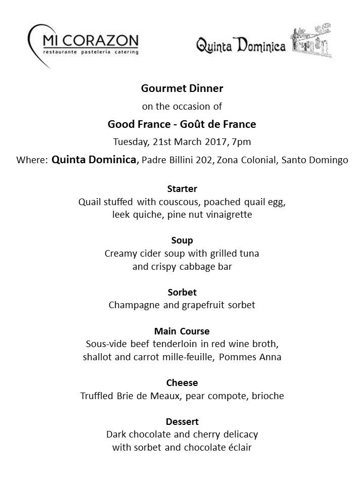 Good France - Goût de France Menu