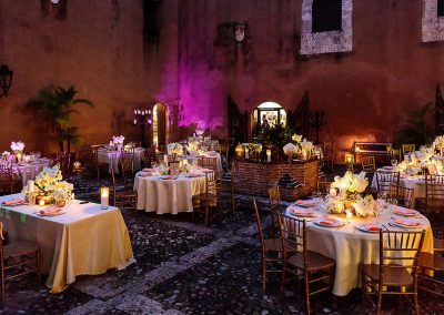 Decorated tables in the Colonial Zone of Santo Domingo