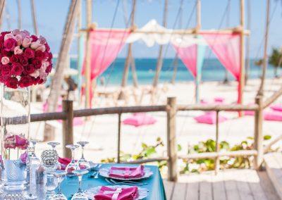 Destination Wedding Ceremony and Dinner Area