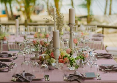 Rose table decoration elements