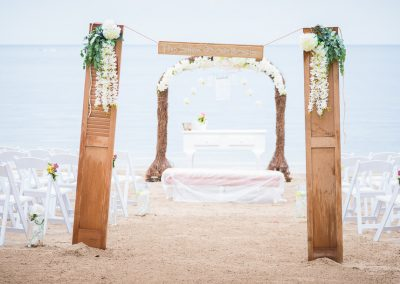 Rustic beach ceremony wedding