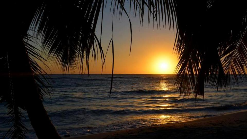 Sunset on Saona Island