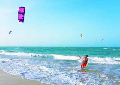 Cabarete is a hotspot for kite-surfers in the Dominican Republic