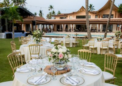 Wedding reception set-up by Dominican Expert
