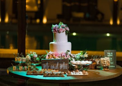 Wedding Cake and Dessert Table by Dominican Expert