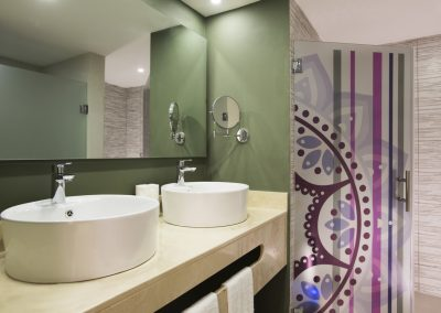 Deluxe Family Bathroom at the all-inclusive hotel Emotions by Hodelpa Playa Dorada in Puerto Plata, Dominican Republic