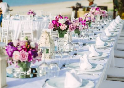 Beachfront wedding reception at the all-inclusive hotel Emotions by Hodelpa in Puerto Plata, Dominican Republic