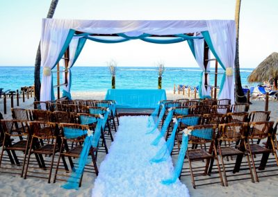 Beach wedding ceremony in the Dominican Republic