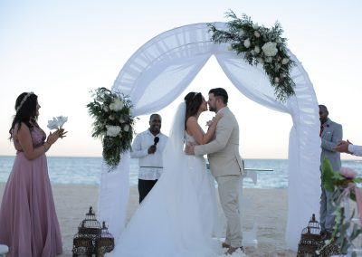 Beach wedding ceremony in the Caribbean