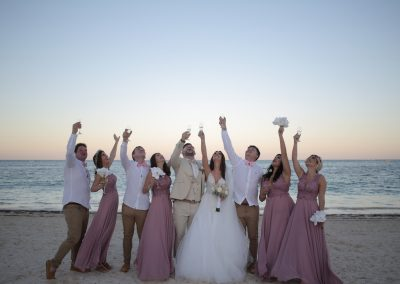 Wedding group in Punta Cana
