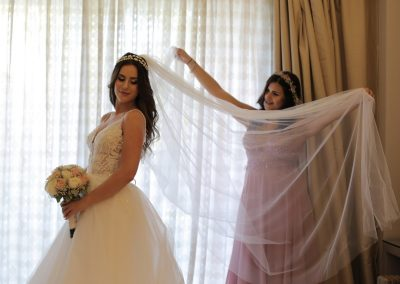 Bride and Bridesmaid before the wedding